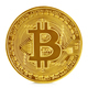 Golden bitcoin isolated on white background. New virtual money. - PhotoDune Item for Sale