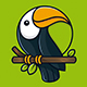 Tropical Toucan Logo Template - GraphicRiver Item for Sale