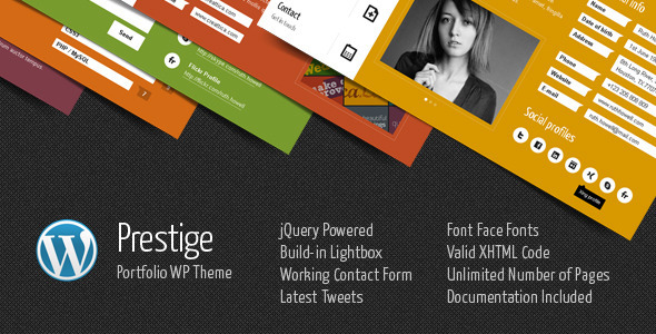 Prestige – Portfolio WordPress Theme