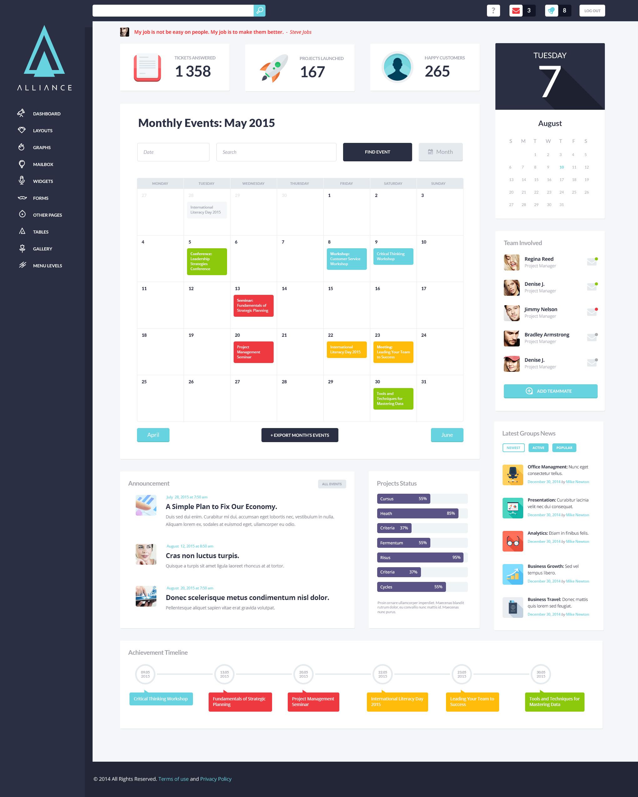 Alliance | Intranet & Extranet WordPress Theme by ThemeREX ...