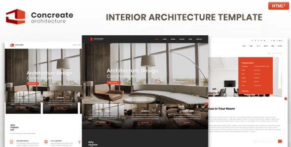 Special Concreate Interior Architecture Interactive Template