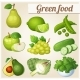 Set of Cartoon Green Food Icons - GraphicRiver Item for Sale