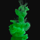 Green paint splash cloud in water, isolated on black - PhotoDune Item for Sale