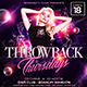 Throwback Thursday Party Flyer - GraphicRiver Item for Sale