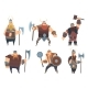 Viking Characters. Medieval Norwegian Warriors - GraphicRiver Item for Sale
