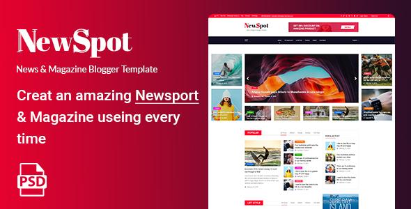 NEWSPOT - News & Magazine Blogger PSD Template