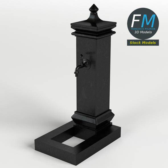 Cast iron fountain - 3DOcean Item for Sale