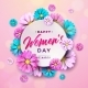 Happy Womens Day Floral Greeting Card - GraphicRiver Item for Sale