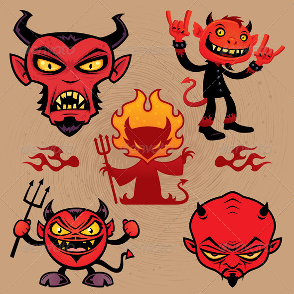 Cartoon Devil Collection - Monsters Characters