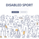 Disabled Sport Doodle Concept - GraphicRiver Item for Sale
