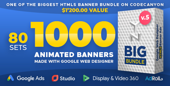 YN Big Bundle - Premium Animated HTML5 Banners made with Google Web Designer - CodeCanyon Item for Sale