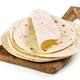 empty tortillas on wooden cutting board - PhotoDune Item for Sale