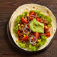 Tortilla wrap with fried minced meat and vegetables - PhotoDune Item for Sale