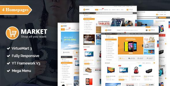 SJ Market – Responsive Multipurpose VirtueMart Theme