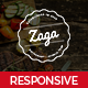 Zaga - Responsive Onepage Restaurant Template - ThemeForest Item for Sale