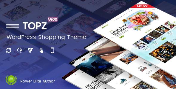 TopZ - Top Food/Sport Fashion & Swimwear Store WordPress WooCommerce Theme - WooCommerce eCommerce