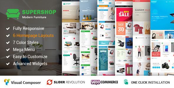 Supershop - Responsive WooCommerce Shopping WordPress Theme (6+ Homepage Layouts Ready) - WooCommerce eCommerce