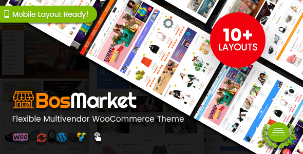 BosMarket - Flexible Multivendor WooCommerce WordPress Theme (10 Indexes + 2 Mobile Layouts) - WooCommerce eCommerce