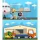 Set of Air Cargo and Storage Services - GraphicRiver Item for Sale