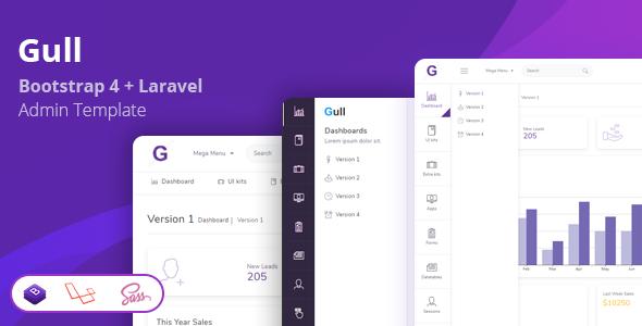 Gull - Bootstrap + Laravel Admin Dashboard Template