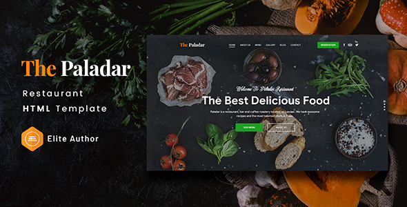 Paladar - Restaurant HTML Template