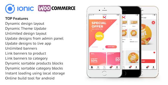 Ionic 4 app for WooCommerce - Codemarket