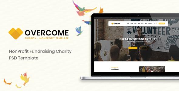 Overcome – Charity Multipurpose Non-profit PSD Template