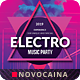 Electro Party Poster & Flyer Design - GraphicRiver Item for Sale