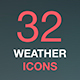 Weather Forecast. Thin Line Web Icon Set, Vector Collection. - GraphicRiver Item for Sale