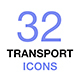 Transport Icons. Transportation Concept Thin Line Vector Icon Set. - GraphicRiver Item for Sale