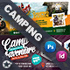 Camping Adventure Cover Bundle Templates - GraphicRiver Item for Sale
