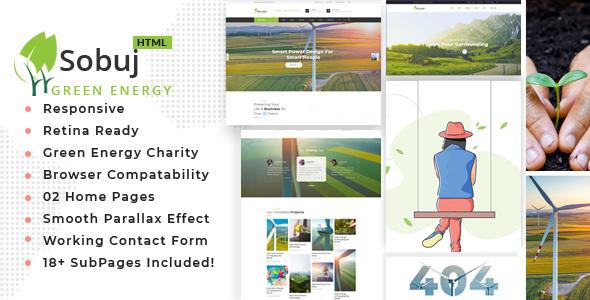Sobuj - Renewable Energy & Ecology Friendly Industrial Template