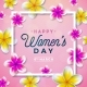 8 March Happy Womens Day Floral Greeting Card - GraphicRiver Item for Sale