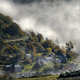 Mountain village between morning mists - PhotoDune Item for Sale