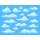 Set of Cartoon Clouds - GraphicRiver Item for Sale