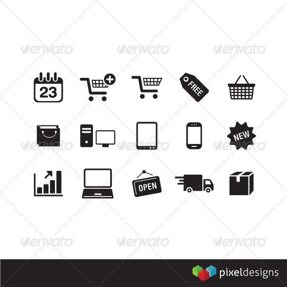15 e-commerce icon - Web Icons