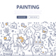 Painting Doodle Concept - GraphicRiver Item for Sale