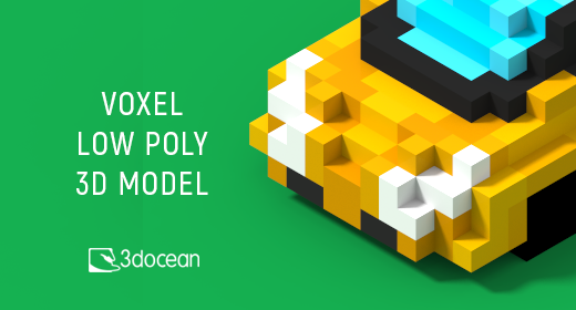 Voxel low poly 3d models