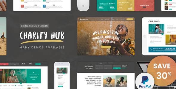 Download Charity Foundation – Charity Hub WP Theme nulled 01 theme preview