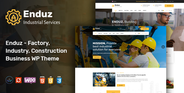 Enduz - Factory Business WordPress Theme