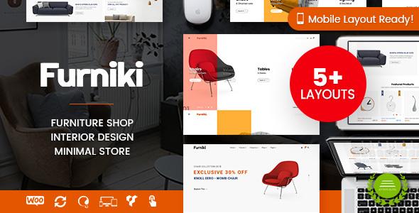 Furniki - Furniture Store & Interior Design WordPress WooCommerce Theme (Mobile Layout Ready)