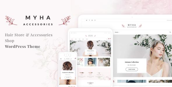 Myha - Accessories Store & Hair Shop WordPress theme - WooCommerce eCommerce