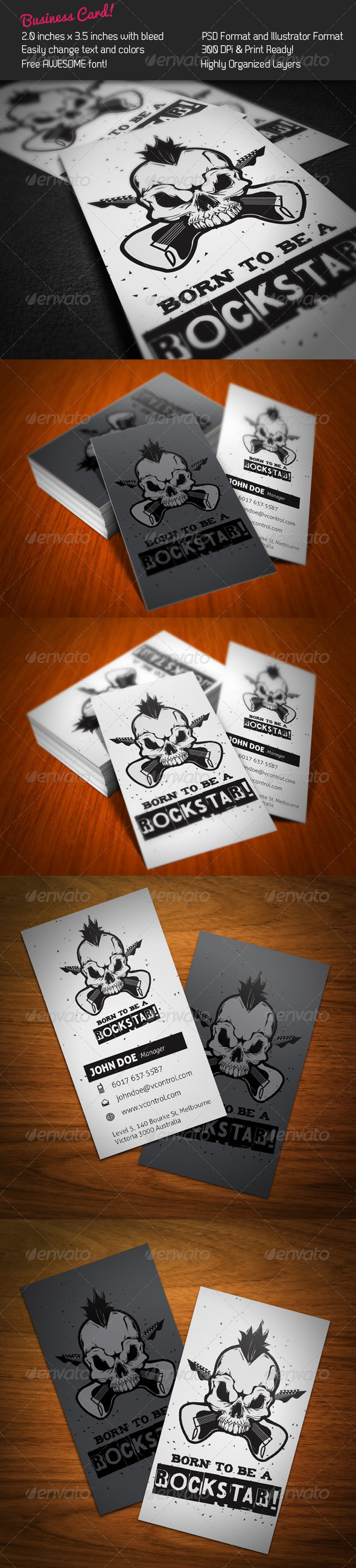 Rockstar Business Card - Creative Business Cards