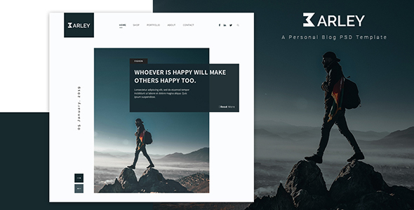 Ultimate Personal Blog PSD Template by Rose-B
