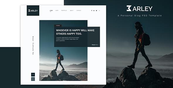 Barley - Ultimate Personal Blog PSD Template