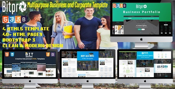 BitPro- Multipurpose Business and Corporate Template - Site Templates