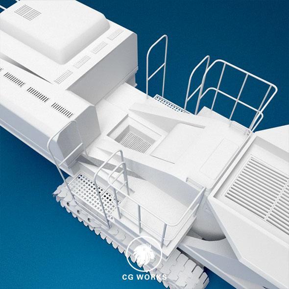 Construction machinery C4D & OBJ X