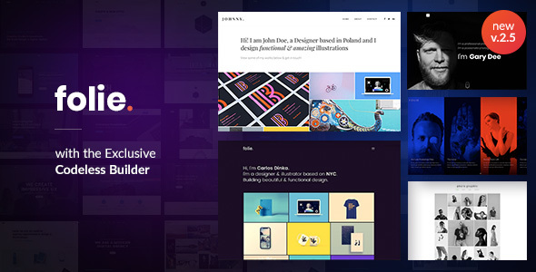 Folie | The WordPress Website Builder - Creative WordPress