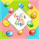 Easter Card on Colorful Background with Painted Eggs Hunt - GraphicRiver Item for Sale