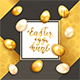 Eggs with Card on Gold and Black Background - GraphicRiver Item for Sale
